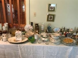 Assortment of dishes, cups, salt & pepper shakers and knickers knacks