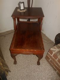 Antique Queen Anne style end table