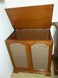 vintage Magnavox record cabinet