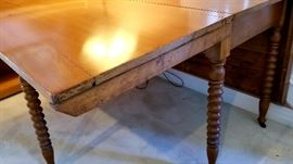 antique maple drop leaf gate leg dining table