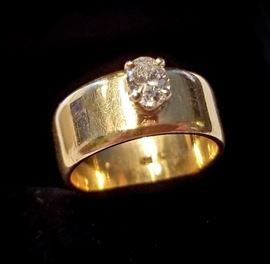 14k diamond ring size 6