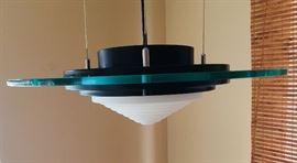 Retro Glass Floating Disk Pendant Ceiling Light
