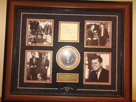 Authentic signed letter and photos of JFK, Bobby Kennedy and Frank Sinatra.  Also, JFK speech in front of his house announcing Bobby Kennedy as attorney general.
