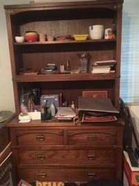 craftsman stickley style cabinet and hutch