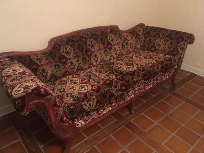 victorian chaise lounge couch