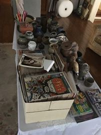 art, sculpture, pottery, bronzes, comics
