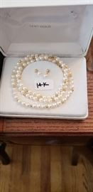 14K AND PEARLS