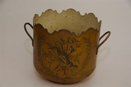 Antique tole cachepot