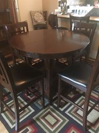New pub table with 8 stools