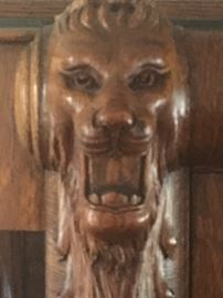 Closeup Of liin on China cabinet