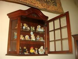 Small wood display cabinets too