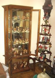 Wood Display cabinets & shelving curios