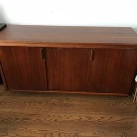 Barzilay Mid Century Modern teak stereo cabinet