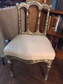 Vintage silver-clad Indian wedding chair