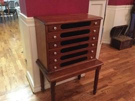 6 Drawer Spool Cabinet on Stand