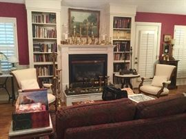 Pfabulous Eastlake Chairs and lots of Brass Altar Candlesticks