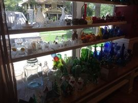 Lots of colorful glass pieces.