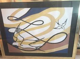 Alenander Caulder signed lithograph