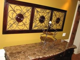 Plunkett buffet with marble top.