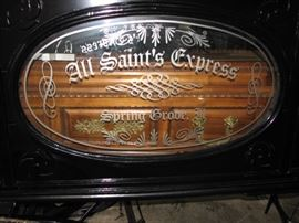 Antique hearse - a horse drawn sleigh / carriage.  All Saint's Express of Spring Grove, IL.