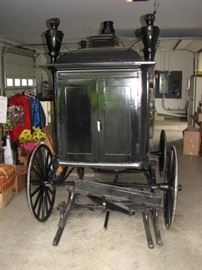 Antique hearse - a horse drawn sleigh / carriage
