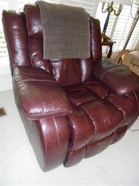 Brown leatherette swivel/rocker