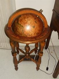 Wooden old world globe