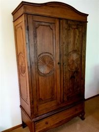 she stored quilts in this wonderful vintage armoire