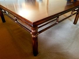 """John McGuire coffee table ($3,000  retail """"in the day"""")"""