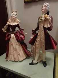 Madame Pompadour and Louis XV - Florence ceramics.