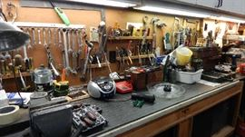 GARAGE FULL OF TOOLS AND ???