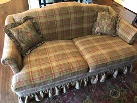 Love Seat recently reupholstered in Ralph Lauren fabric