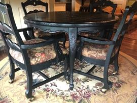 Table with 4 Arm Chairs