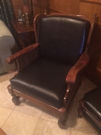 Leather Den Chair
