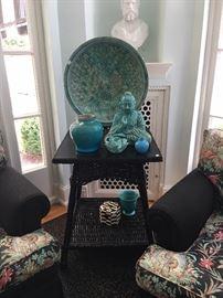 Aqua porcelain  pottery accessories