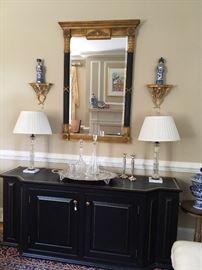 Black Credenza and mirror