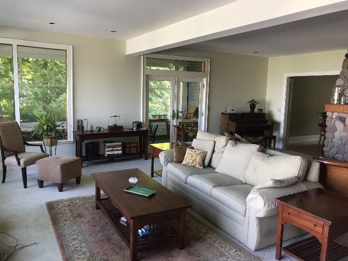 ETHAN ALLEN FURNITURE.  COFFEE TABLE, ENTD TABLES, SOFA TABLE.  SOFA