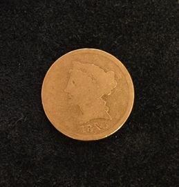 1843-D $5 Gold coin