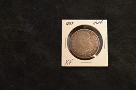 1827 Capped Bust Half Dollar Silver