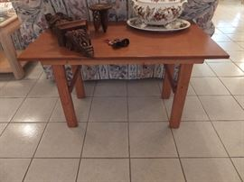 Hand crafted solid wood table