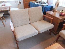 matching Mid Century Modern love seat