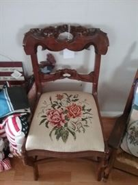 Nice Needlepoint Side Chair