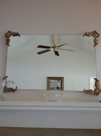 Lovely Gold Edged Mantle Mirror
