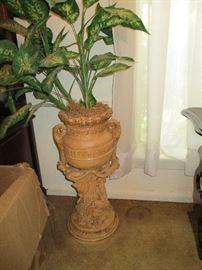 Vintage plaster planter