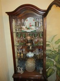 Antique glassware, some silver, porcelain