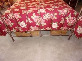 Antique iron full bed Metal frame in bronze with mattress and box springs. Does not included linens.