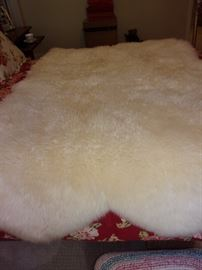Sheepskin from New Zealand. Never been on floor.