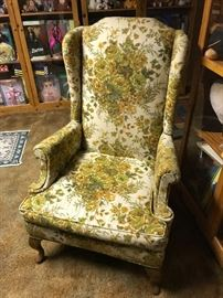 Wing back chair (there are 2 of these)