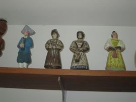 Antique to vintage figures from many countries