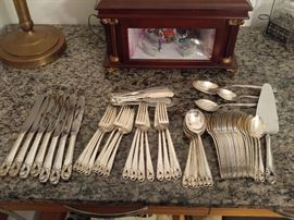 69 PIECE INTERNATIONAL STERLING 'SPRING GLORY' FLATWARE SERVICE FOR 8 WITH MANY EXTRAS